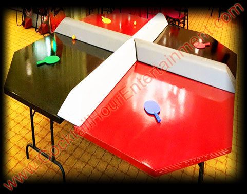 arcade game 4 player ping pong party rental